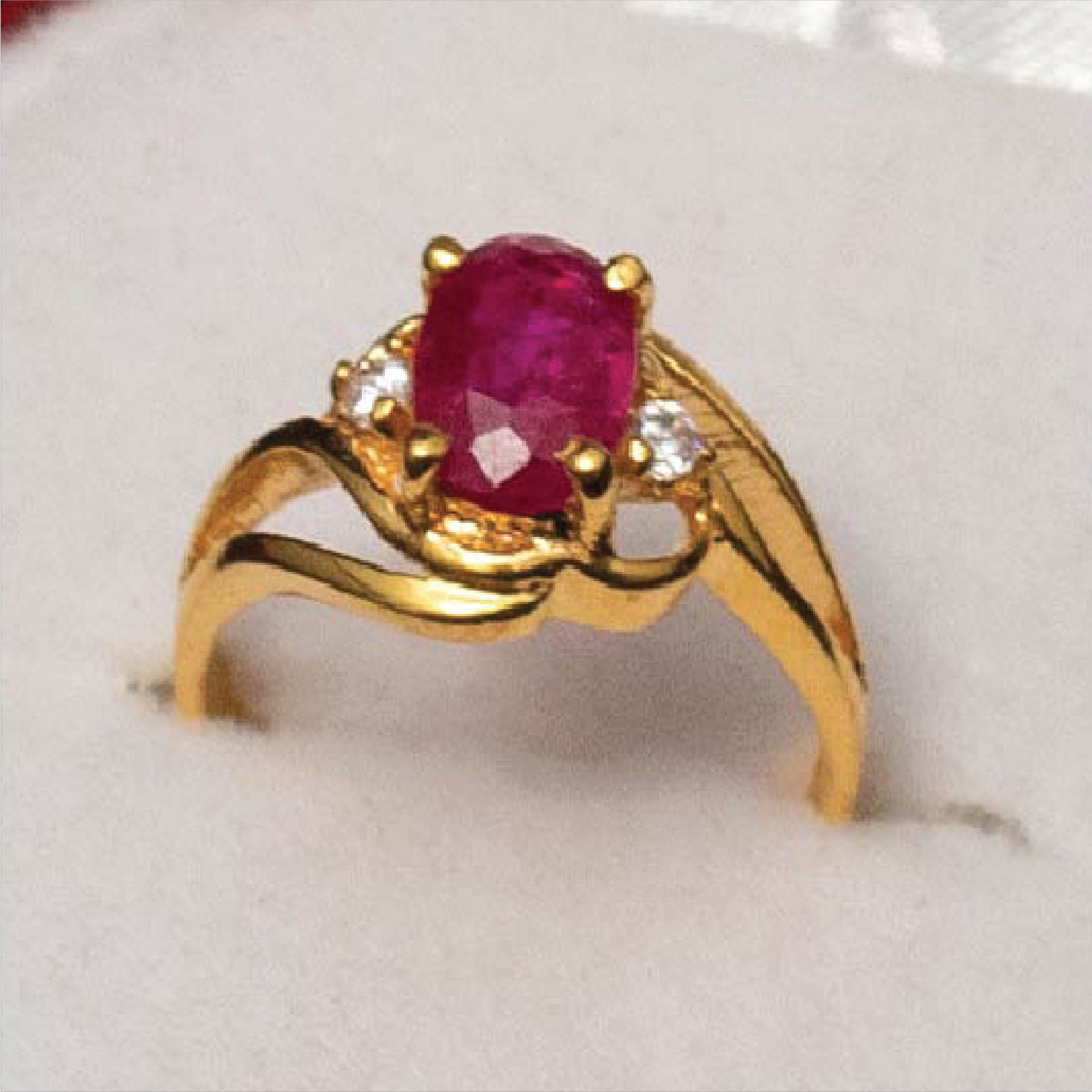 Bridal Ring with Ruby