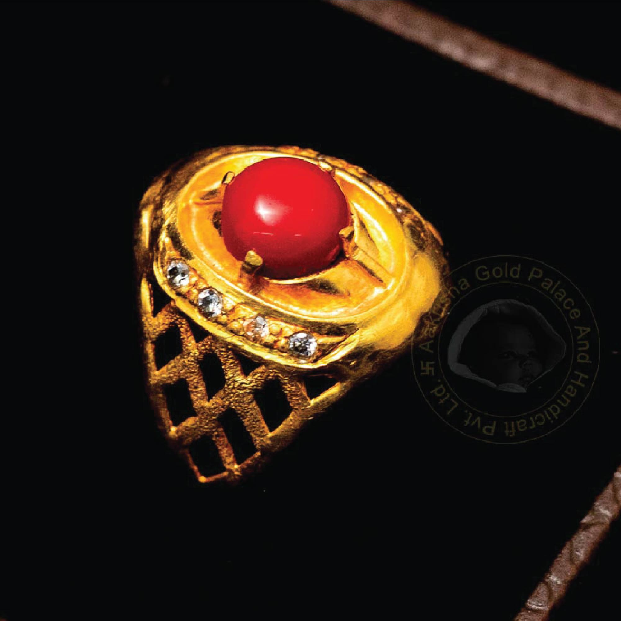 Traditional Ring with Red Gem