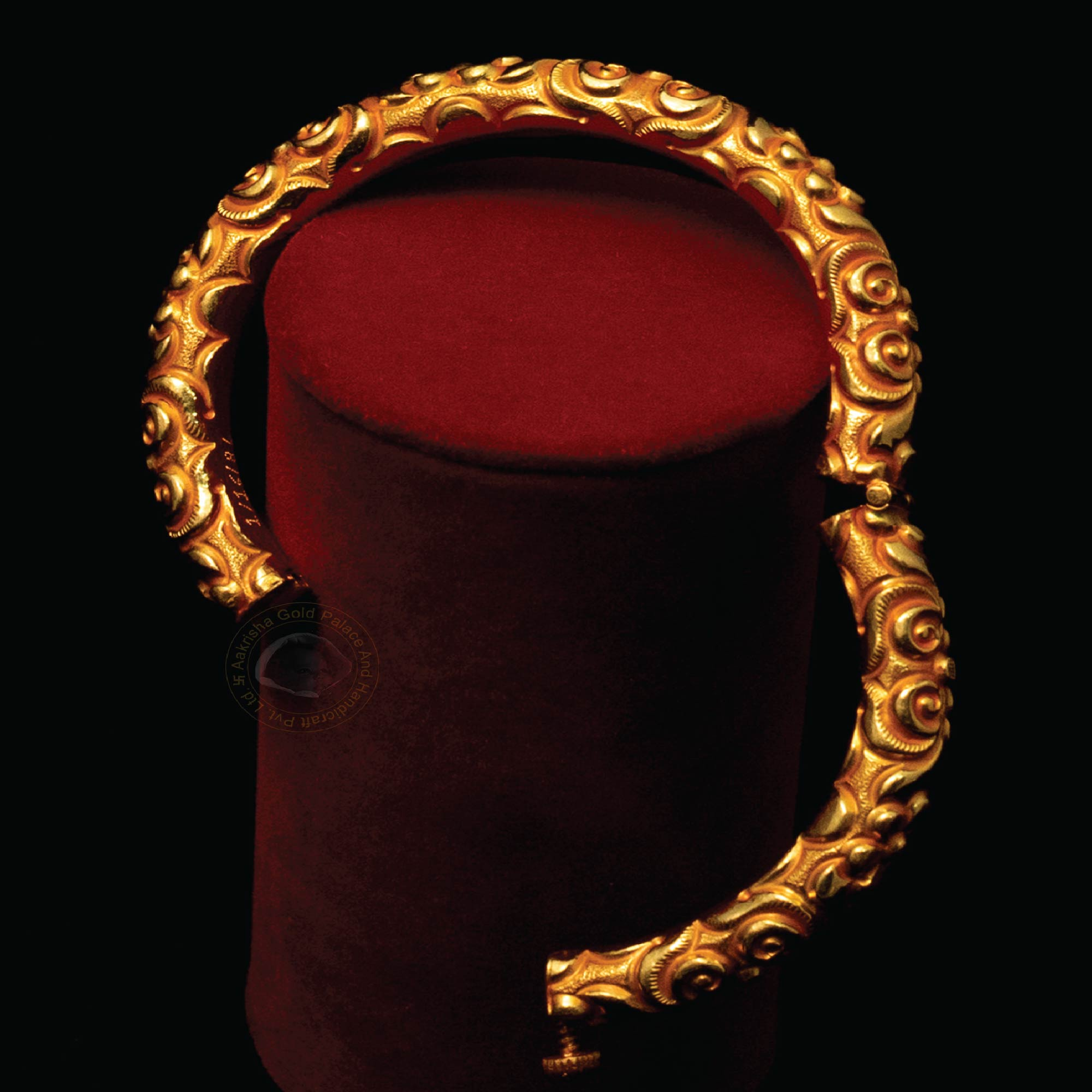 Golden Bangle with Clasps