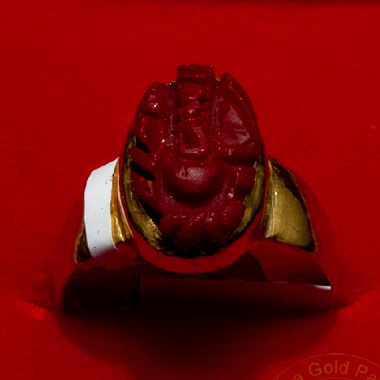 Ganesha Carved Ring